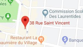 Google Map CIE Laurentides